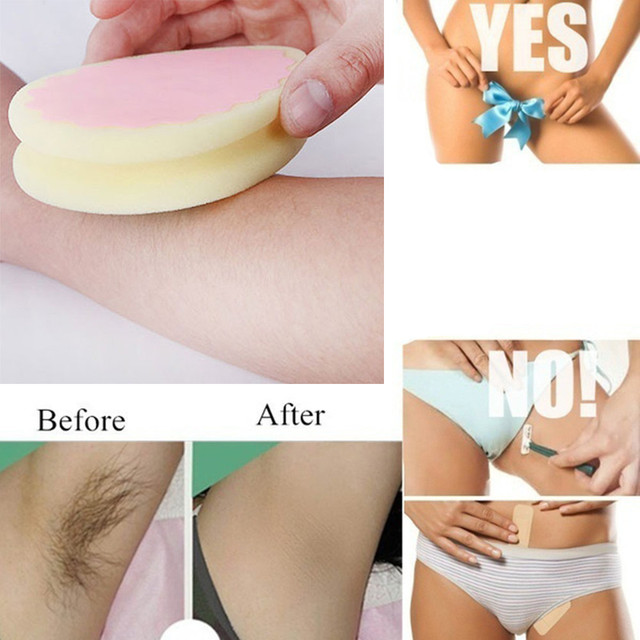 Magic Painless Hair Removal Depilation Sponge Pad   4
