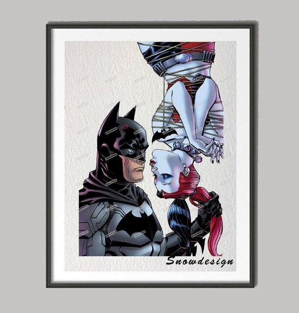 Batman Harley Quinn wall art canvas painting