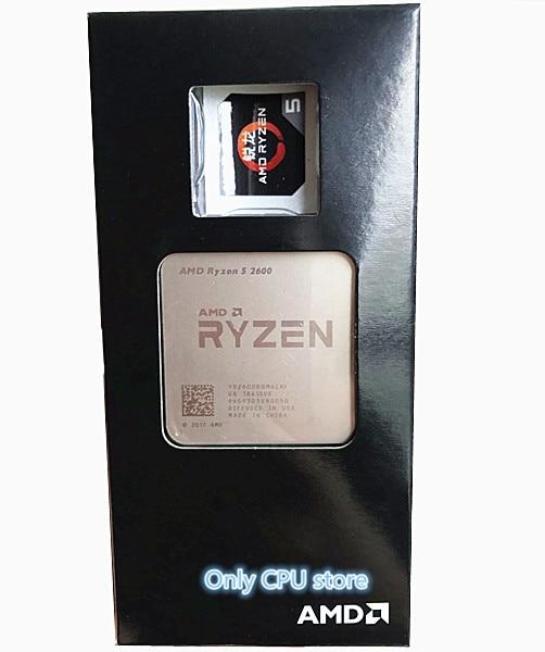 AMD Ryzen 5 2600 R5 2600 GHz Six-Core Twelve-Thread CPU Processor Socket AM4