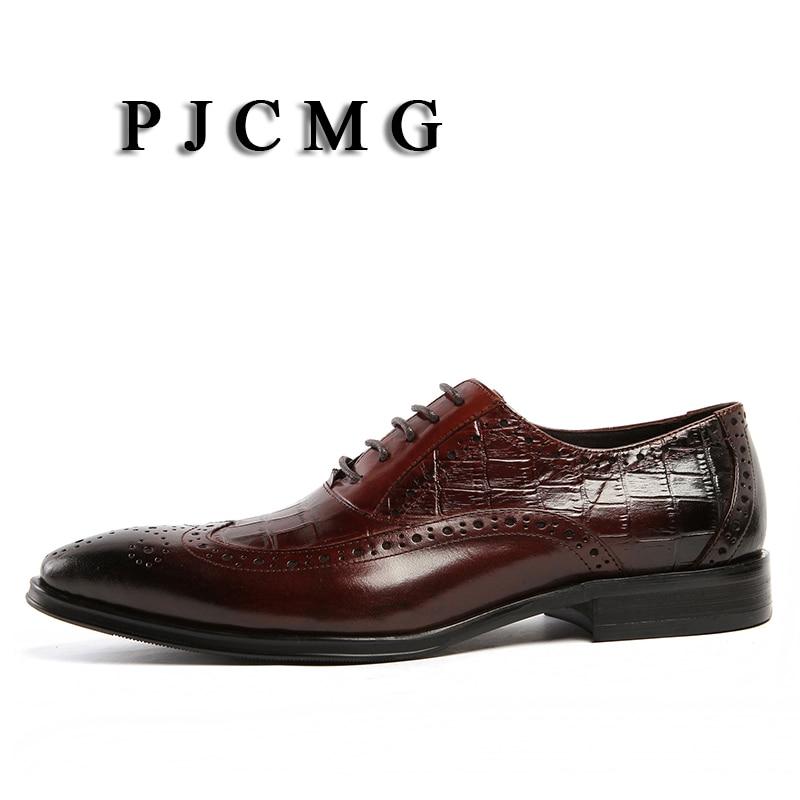 Cuero Hombres Lace Genuino Oxfords Boda Nueva Negocios Mens Negro red rojo Zapatos Formal Pjcmg Estrecha Black De Punta up qPROBS