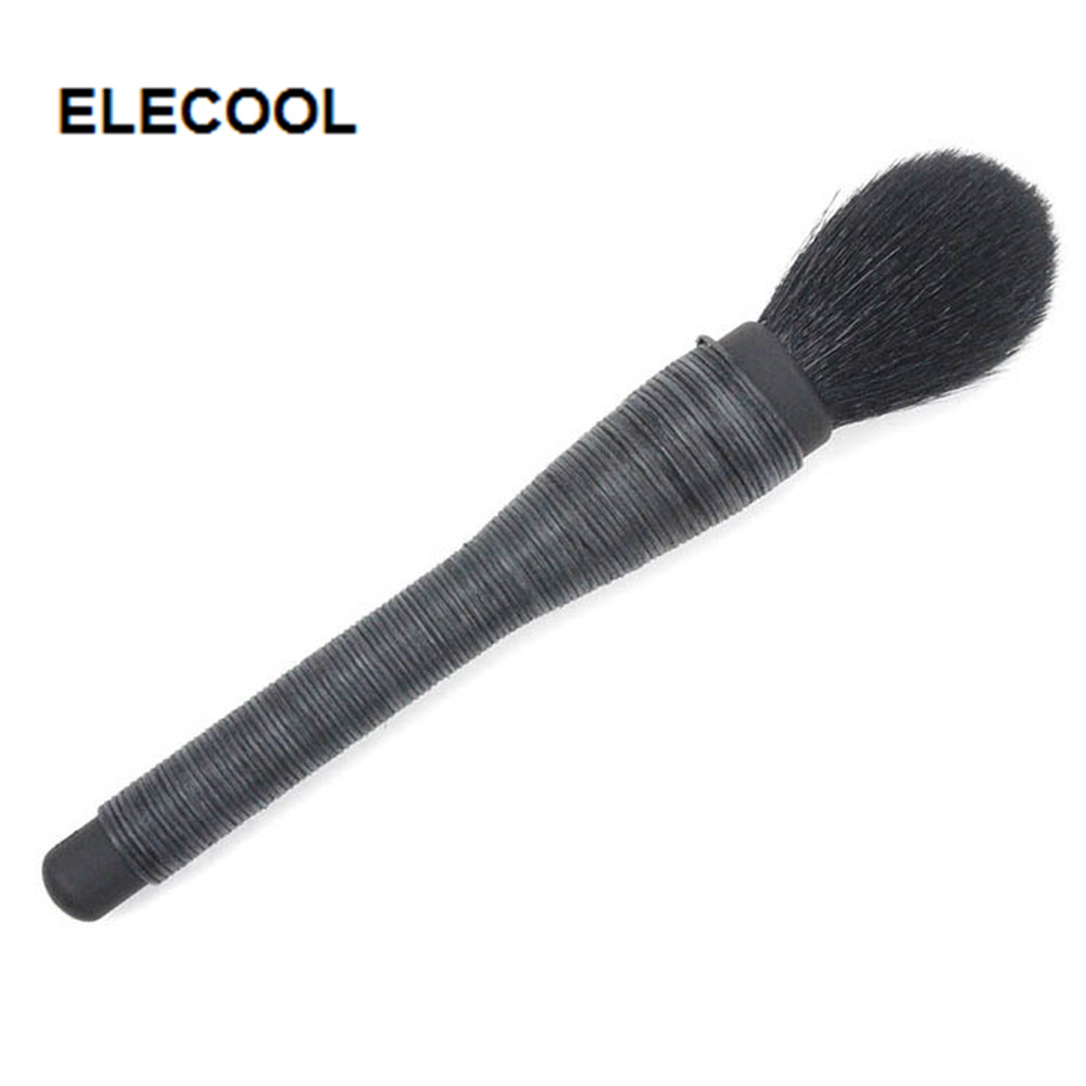 Elecool 1pcs Handmade Rattan Tapered Make Up Brushes Black Powder Brush Professional Goat Hair Makeup Tool Makeup Tools & Accessories Makeup