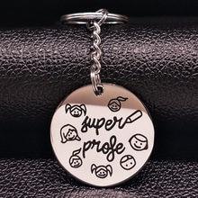 Porte-clés en acier inoxydable pour enseignant, bijoux pour femmes, Souvenir mignon, cadeaux pour la journée des enseignants, la mejer profora K17762