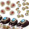 10Pcs 3D Alloy Crystal Rhinestones Nail Art Glitters Sticker Bling Tips DIY Deco