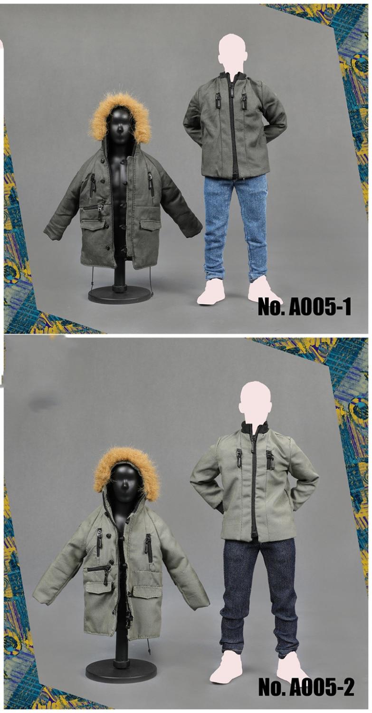 1/6 ชายปลอกคอขนยาว Coat Hoodie เสื้อและกางเกงชุดสำหรับ 12''Action ตัวเลขร่างกายอุปกรณ์เสริม A005-ใน ฟิกเกอร์แอคชันและของเล่น จาก ของเล่นและงานอดิเรก บน   3