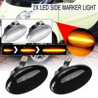 2pcs Flowing Side Repeater Lamp Dynamic LED Side Marker Light 12V Panel Lamp for Mercedes Smart W450 W452 A-Class W168 Vito W639
