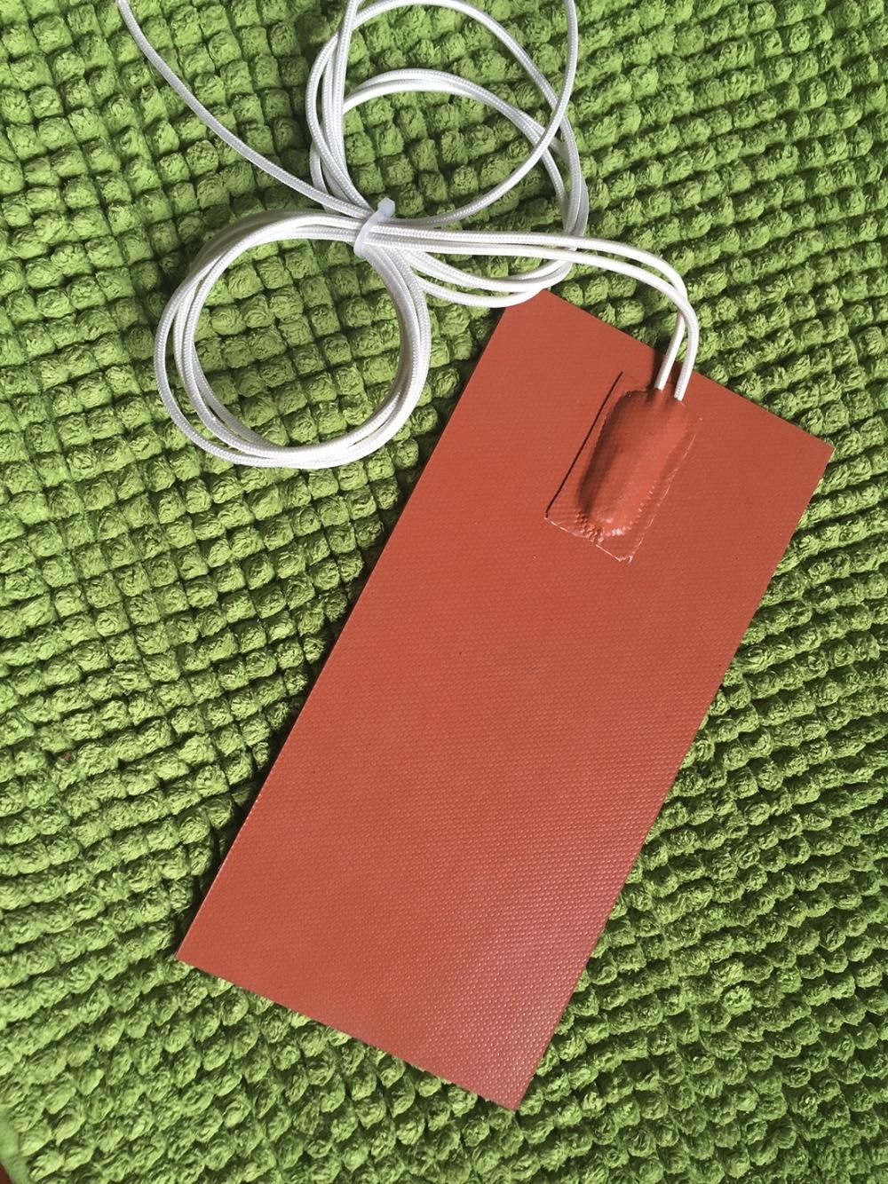 Riscaldatore flessibile della gomma di silicone riscaldatore 220 v 250 w 120*200mm calore riscaldatore di olio di riscaldamento elettrico riscaldato termostato 80C