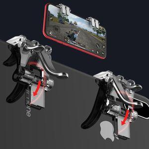 Image 3 - 1 ペア左右ゲームトリガー火災ボタン目的キーゲームパッドアクセサリーのためpubg携帯電話ゲームシューティングゲームコントローラジョイスティック