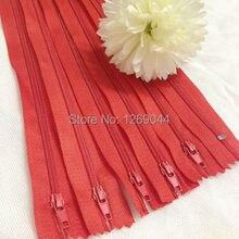 20 unids Nylon bobina cremalleras Tailor herramientas de costura Craft 9 pulgadas de color rojo