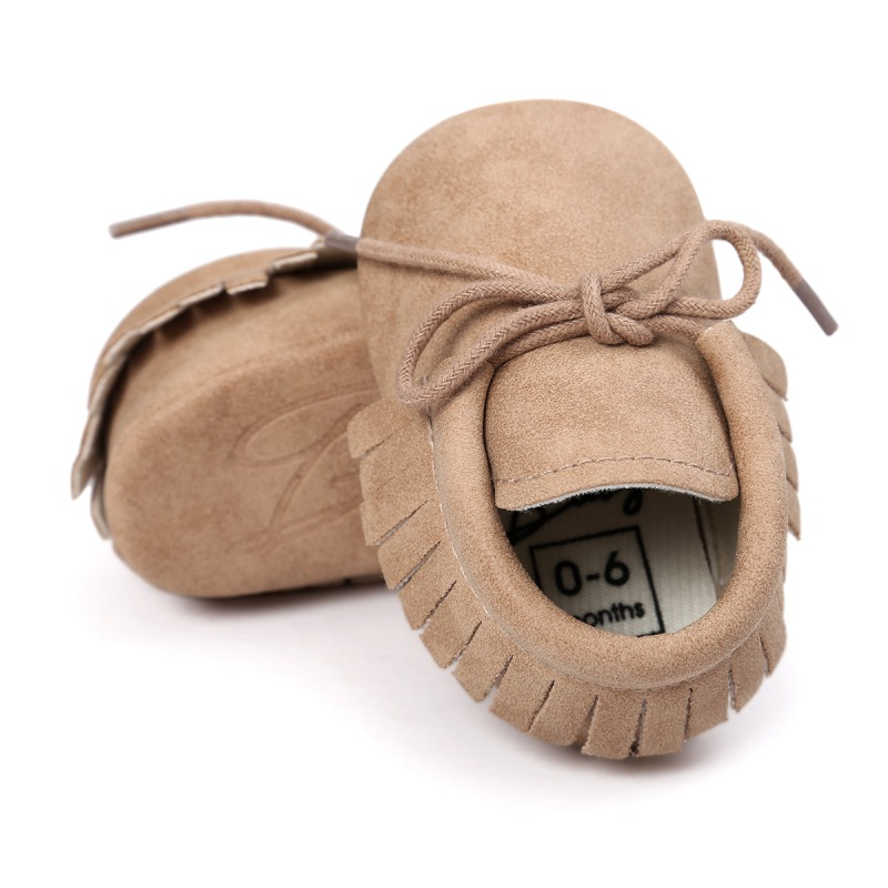 2018 New Baby Shoes PU Leather Girls Shoes For Girls Baby Booties Baby Moccasins Fashion Fringe First Walks 0-18M 10 Colors