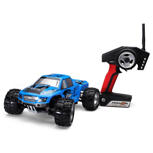 ФОТО Hot Sale Rc Car Wltoys A979 1/18 2.4Gh 4WD Monster Remote Control Truck Trailer Ready to go