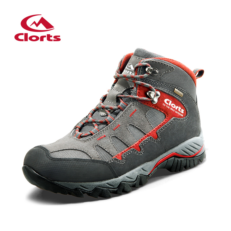 2018 Clorts Mens Hiking Boots Waterproof Outdoor Climbing Shoes Sports Shoes Suede Leather Upper For Male Free Shipping HKM-823 clorts women hiking shoes outdoor trekking shoes waterproof lace up mountain shoes suede leather female climbing shoes hkl 826e
