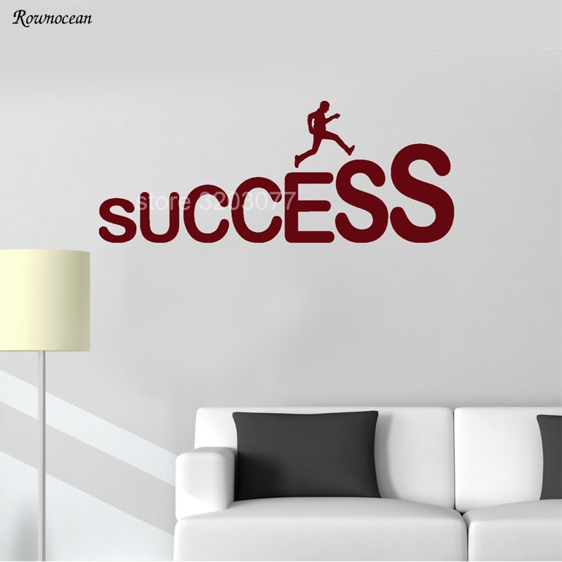 Charge Toward Success Motivation Office Quote Vinyl Home Decor Wall Stickers Decoration Window School Learn Room Text Mural H528
