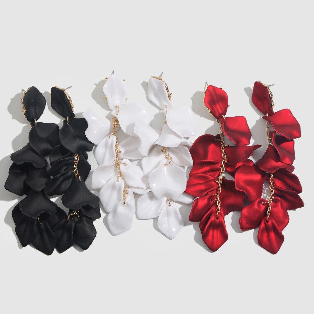 Flatfoosie Fashion Acrylic Resin Drop Earrings For Women Vintage Geometric Long Dangle Statement Earrings Wedding Party Jewelry 33