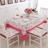 2016 New Hot Sale Pastoral StyleTable Cloth Home Outdoor Coffee Table Cloth Hotel Restaurant Banquet Tablecloth
