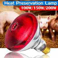 E27 100/150/250W Thickening Smart Heat Lamp Farm Light Thermal Preservation Pig Chicken Heat Lamp Infrared Ray LED Hatch Dog Cat