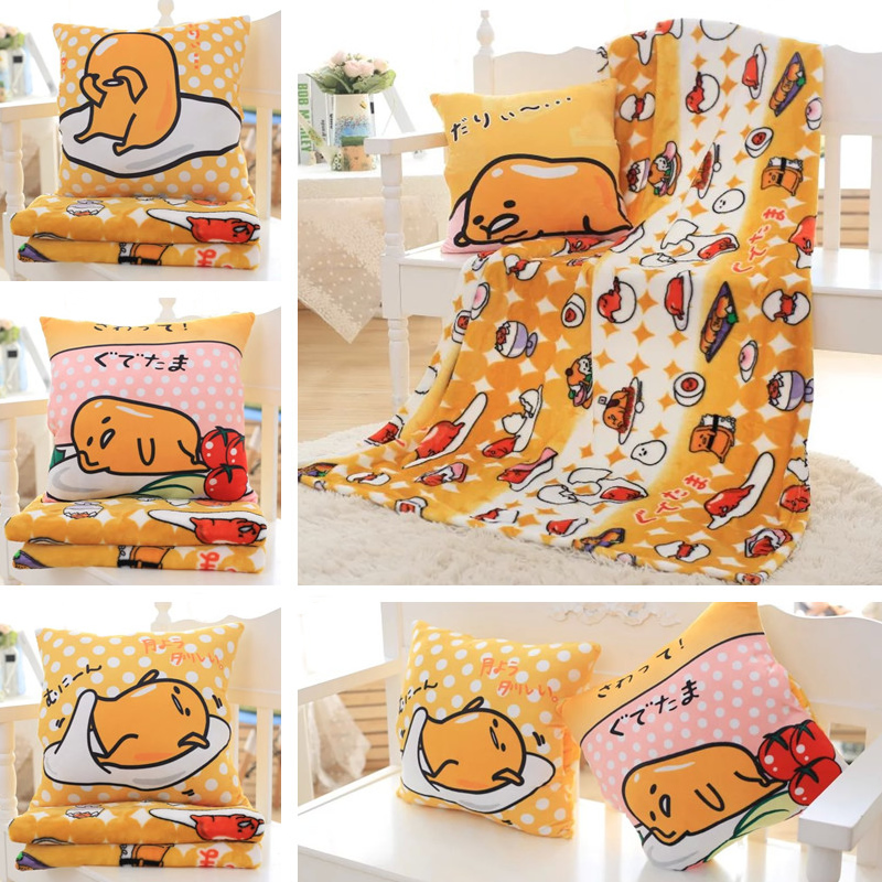 Candice guo! cute plush toy lovely gudetama funny lazy egg soft stuffed cushion hand warm blanket birthday Christmas gift 1pc цены