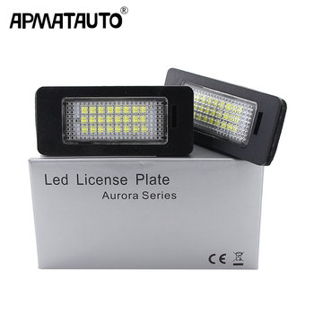 2pcs Car Led License Plate Led Light Lamp 12v White For BMW E39 E60 E82 E90 E92 E93 M3 E39 E60 E70 X5 E60 E61 M5 E88 325i 328i image