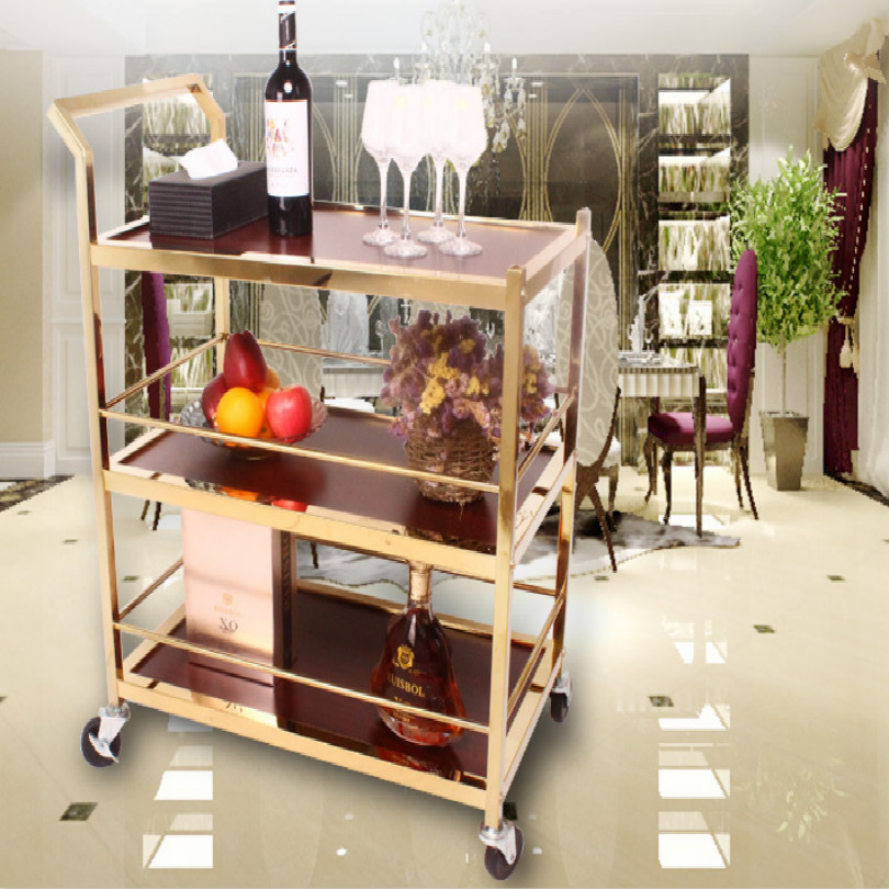 Hotel KTV Drinks Rolling Cart Bar Cart Tea Trolley Table Wine Dessert Tea Trolly FREE SHIPPING