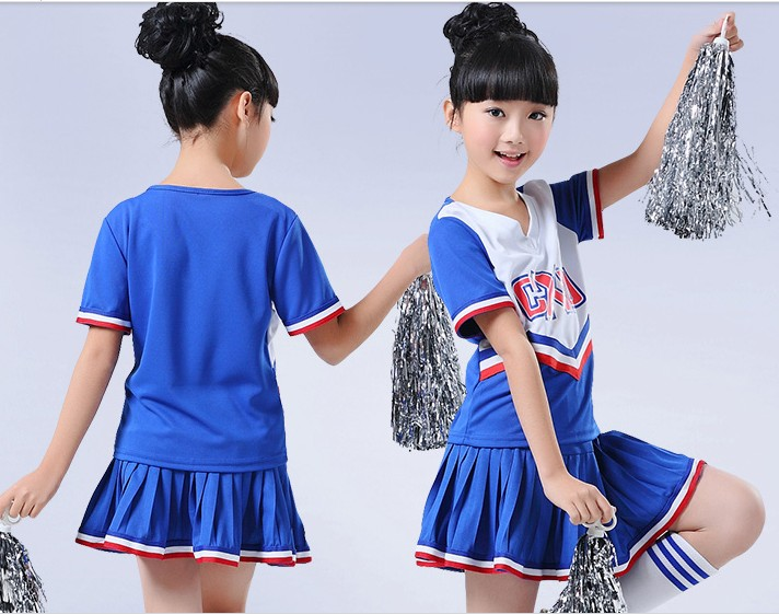 Childrens Cheerleading Performances Boys and Girls Cheerleading clothing Squad Cheerleading Dance Costumes