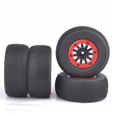 4 PCS/Set Tyre Wheel Rim RC 1:10 Short Course Truck Tires Set For SlASH HPI Remote Control Car Model Toy Parts цены онлайн