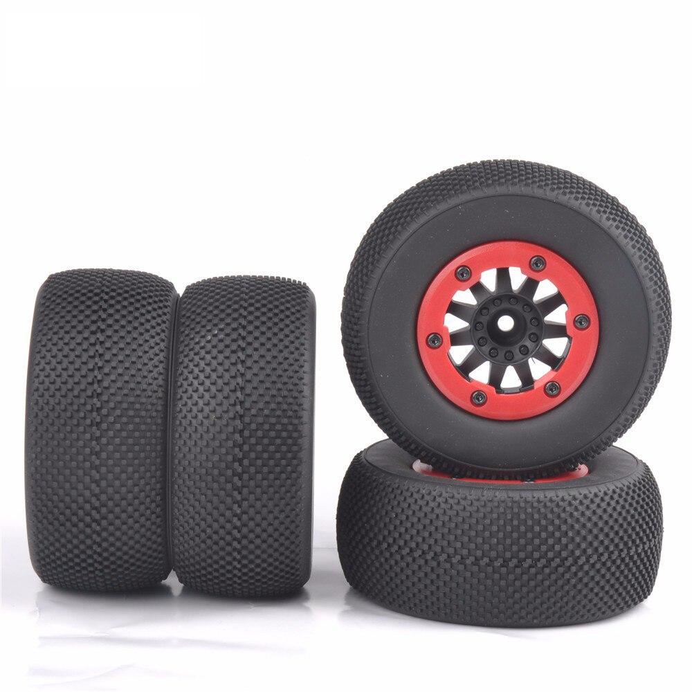 4 unids/set neumático con borde de rueda RC 110 juego de neumáticos de camión de recorrido corto para SlASH HPI Control remoto coche modelo juguete partes