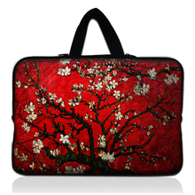 Red Flower Soft Neoprene Sleeve Bag Case +Handle For Samsung Galaxy Note 8 8.0″ Inch Tablet N5100 N5110