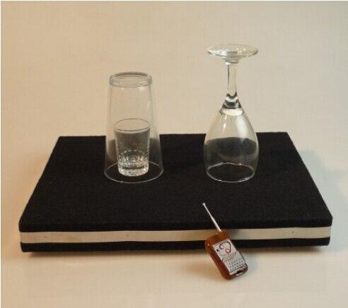 Télécommande Briser le Verre de table et coin en verre tapis-tour de magie, verre magique, accessoires, gimmick