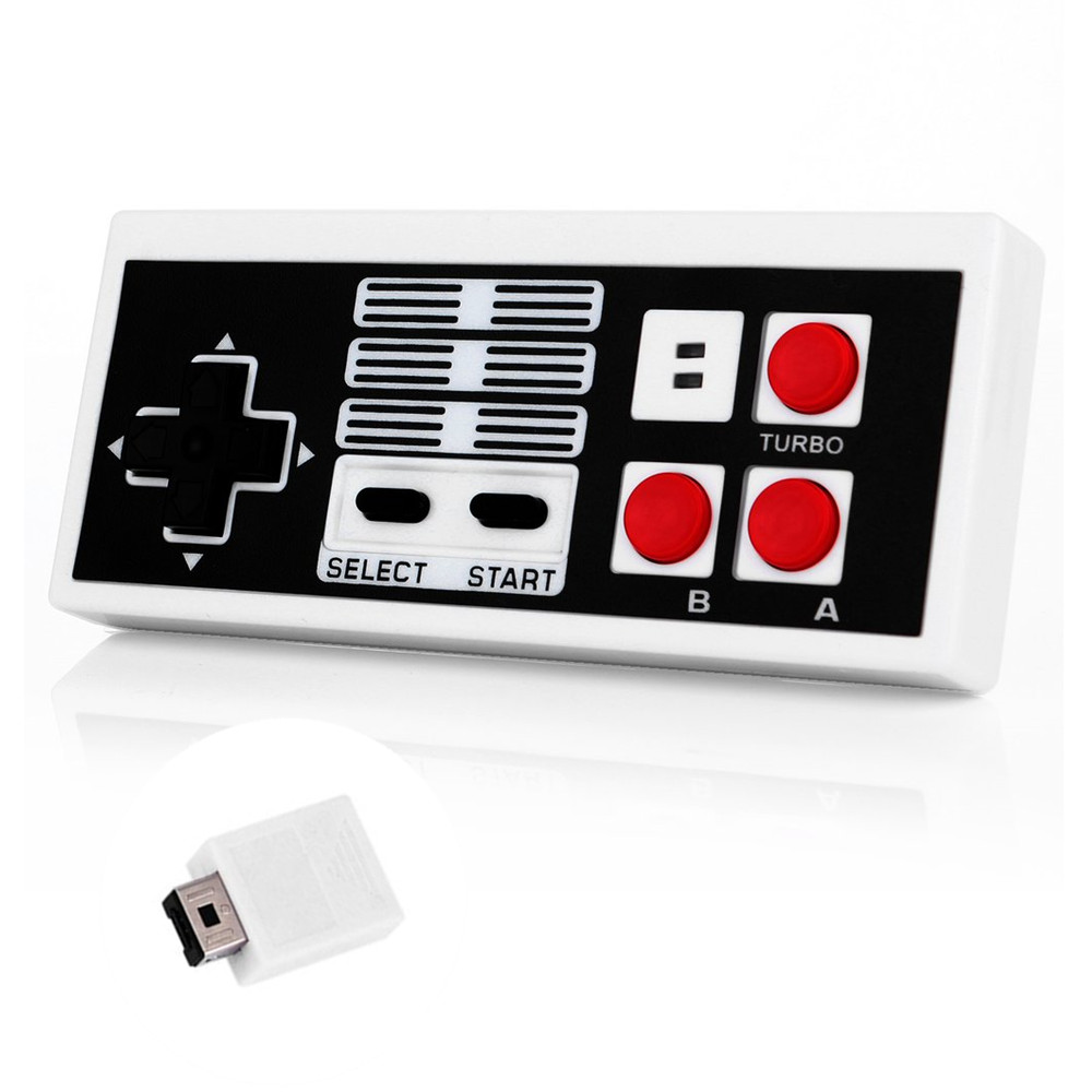 Wireless Gaming Classic Controller Gamepad For Nintendo For NES USB Plug And Play Remote Control With Wireless Receiver