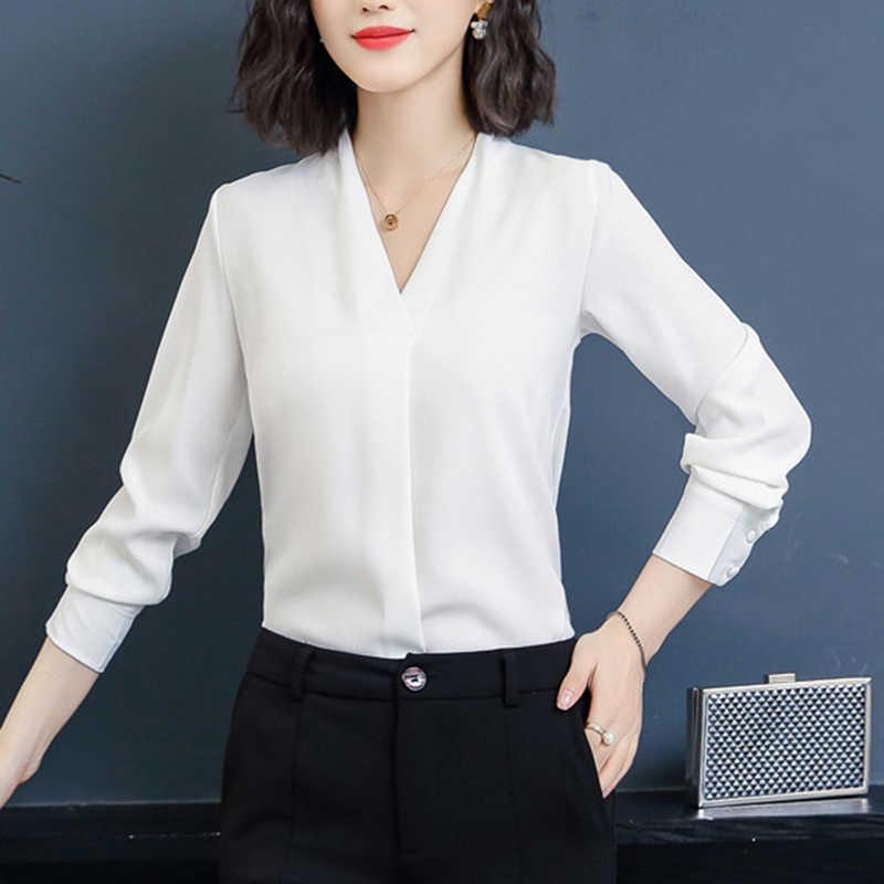 95db5b8f63 2019 Blouse Shirt Women's Blouses Fashion Chiffon Autumn Korean ...