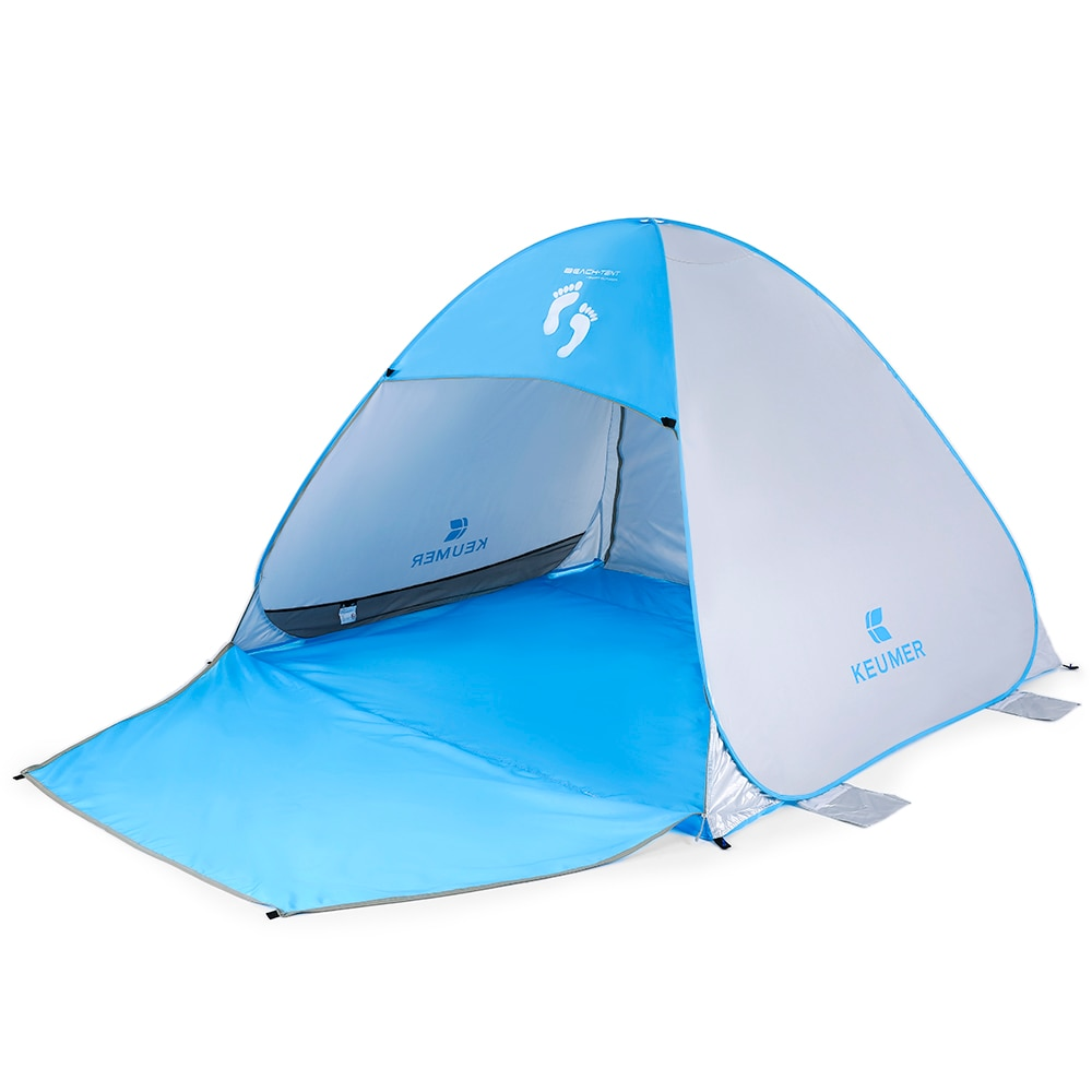 KEUMER (71+37)*79 *53IN Outdoor Sun Shelter Beach Tent UV Protection Instant Automatic Pop Up Tent for Camping Extension FloorKEUMER (71+37)*79 *53IN Outdoor Sun Shelter Beach Tent UV Protection Instant Automatic Pop Up Tent for Camping Extension Floor