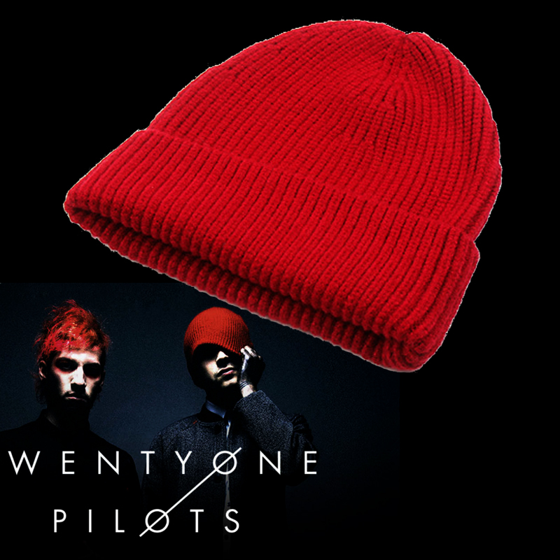 Twenty One Pilots Hats Rock Band Caps Cosplay Tyler Joseph Costume Accessarries Warm Beanie Caps
