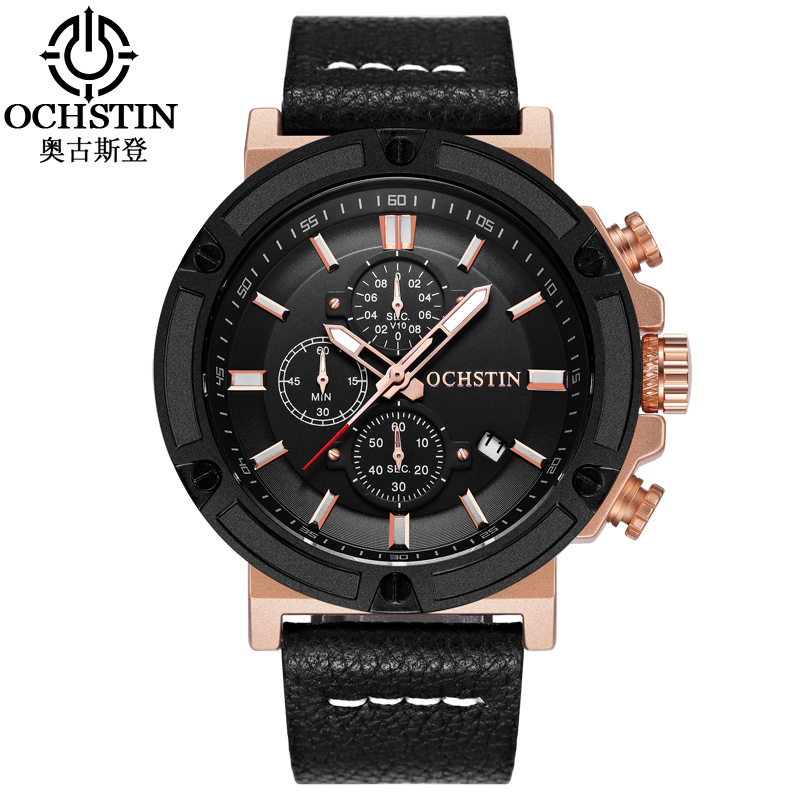 OCHSTIN Original Watch Men Sport Quartz Men Watches Chronograph Wrist Watch Relogio Time Hour Clock Reloj Hombre Mens Watches ochstin quartz chronograph sport watches men waterproof leather military wrist watch men clock male reloj relogio masculino