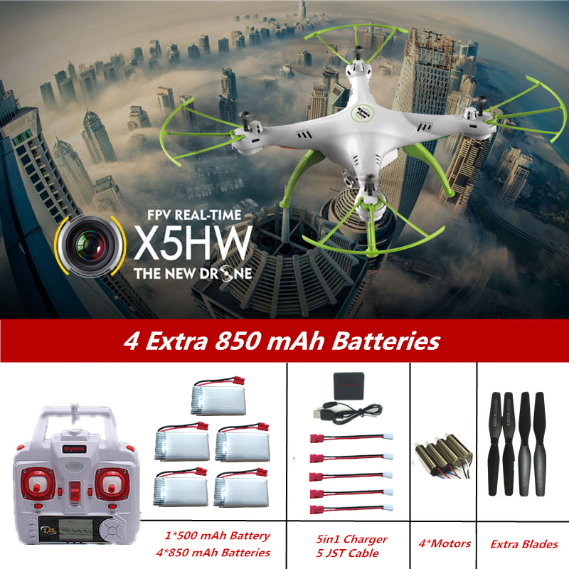 RC Drone Syma X5HW (Syma X5SW X5C RC Hélicoptère 2.4g Mise À Niveau) drone avec Caméra Quadcopter Drones avec Caméra HD Dron VS SG600