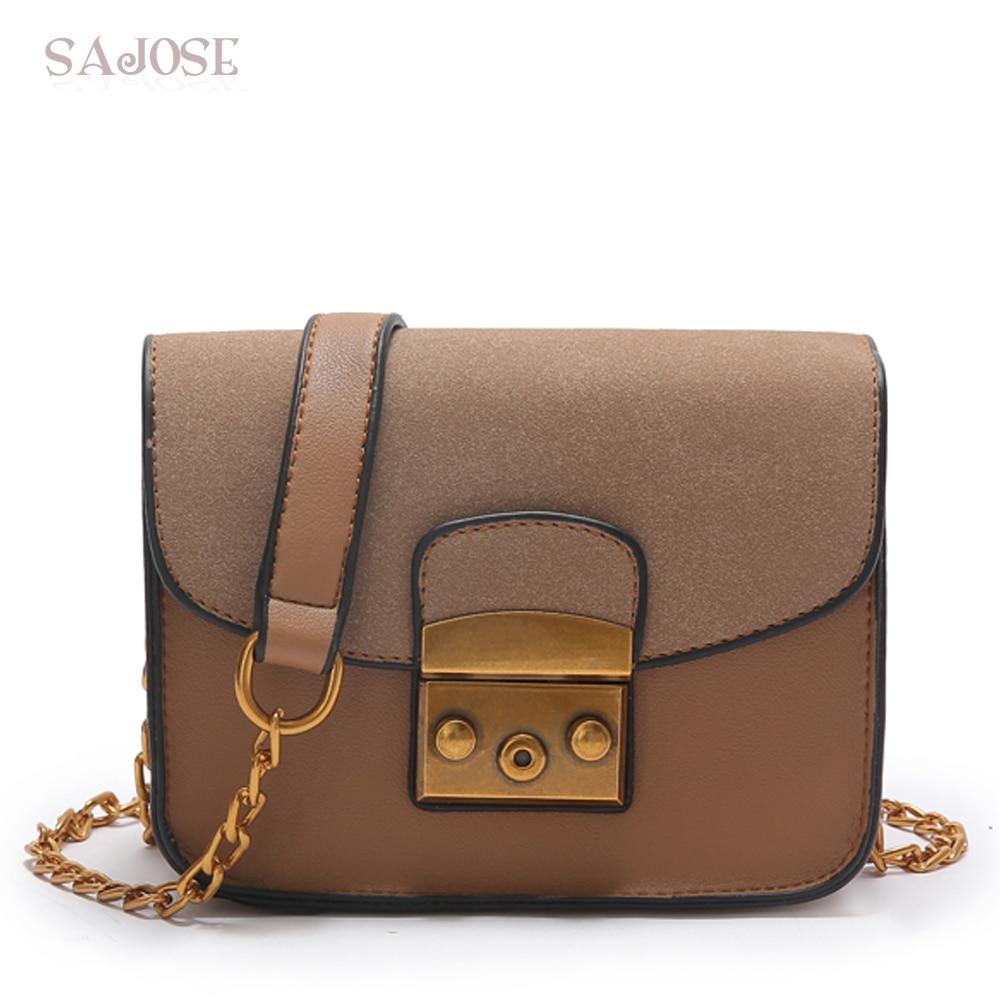 Leather Bags Women Crossbody Bags Handbag Fashion Plap Vintage Famous Brand Chain Womens Shoulder Messenger Bag Drop Shipping