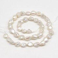 New Arriver Pearl Loose Beads,Keshi Pearls,8 9 White Freshwater Pearl Loose Beads,High Luster Loos Reborn Pearl Strand