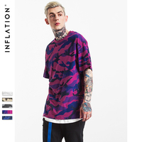 INFLATION 2017 New Arrival Rock T Shirts Printed Tees Hip Hop Mens Black Urban Streetwear T