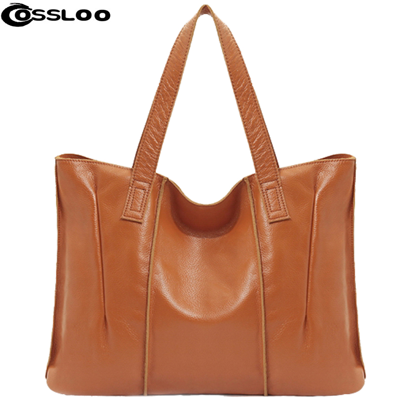 COSSLOO women shoulder bags genuine leather handbag Cowhide messenger bag for women leather bags Ladies Tote Sacthel Purse Bolsa 2018 women messenger bags vintage cross body shoulder purse women bag bolsa feminina handbag bags custom picture bags purse tote