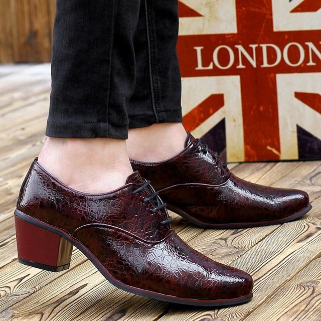 Zapatos de hombre tacones altos primavera otoño para Hombre Zapatos de  Punta puntiaguda azul oscuro vino 17c0d1f9d20