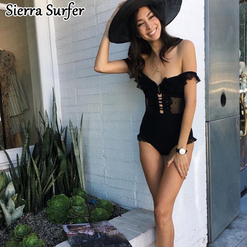 Swimwear Women Lady Bikini 2018 Swim Suit One Piece May Beach Girls High End Catwalk Sexy Black Triangle Bathing Suits Female one piece swimsuit cheap sexy bathing suits may beach girls plus size swimwear 2017 new korean shiny lace halter badpakken