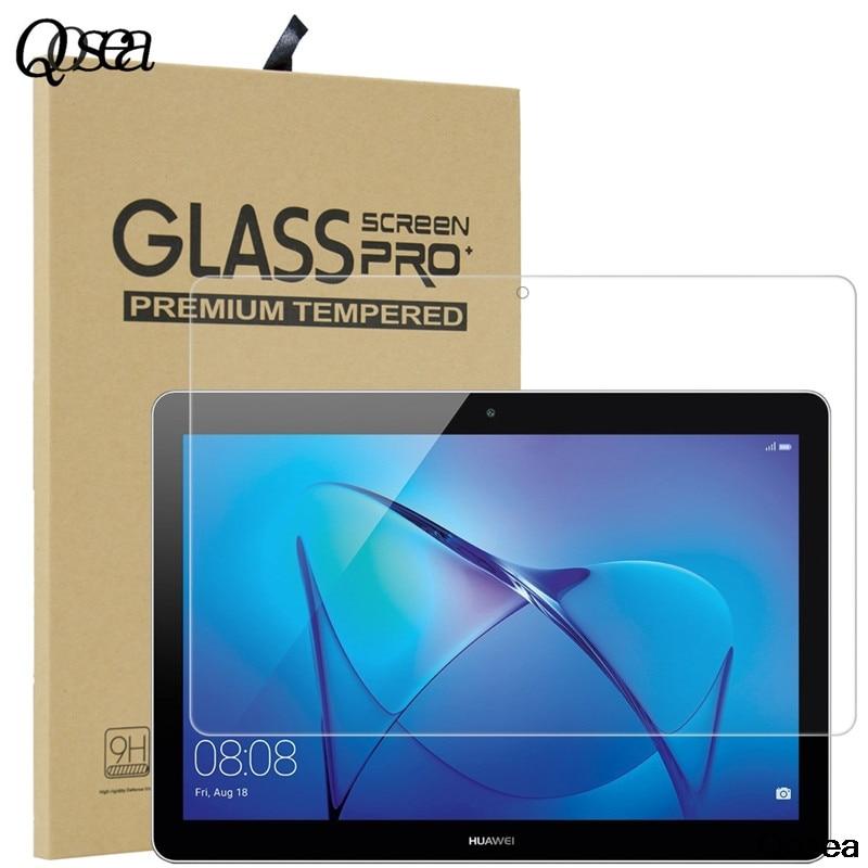 "imágenes para T3 qosea original para huawei mediapad 10 ""tabla galss templado 2.5d 9 h protector de pantalla ultra-delgada película mediapad t3 cubierta de vidrio"