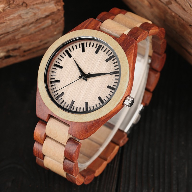 Men's Ebony Wooden Watch Male Vintage Wood Quartz Analog Creative Wristwatch Simple Natural Bamboo Man Men Dress Reloj Hombre natural bamboo watch men casual watches male analog quartz soft genuine leather strap antique wood wristwatch gift reloje hombre