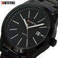 Fashion Black Curren casual full steel quartz Watch men Black Business Wristwatch waterproof Relojes Hombre Relogio 2017