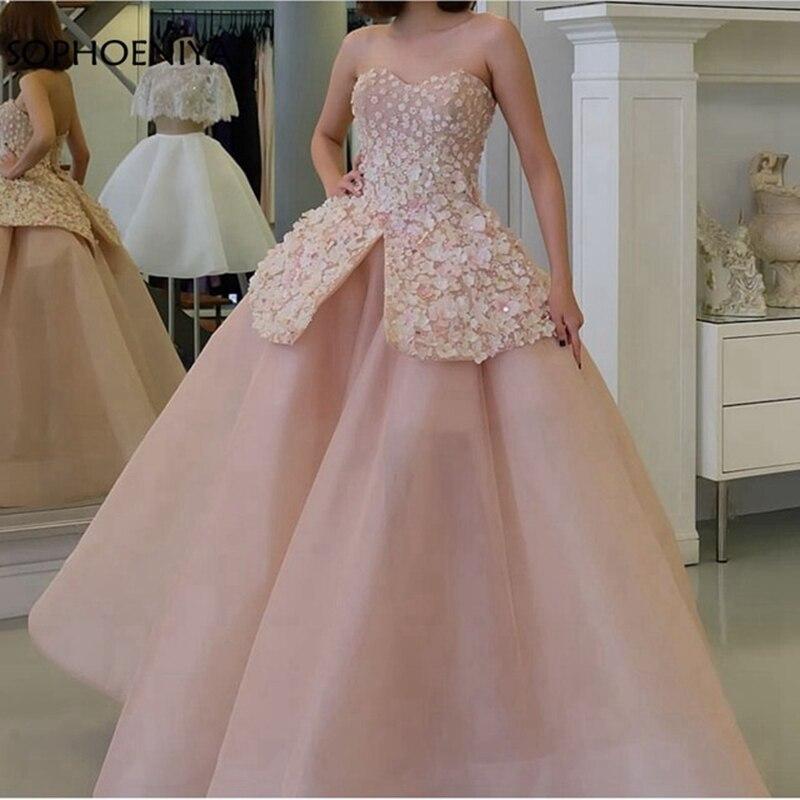 New Arrival Off the shoulder Pink   Evening     dress   Long 2019 Dubai Kaftan Party   dress   Ball gown   evening     dresses     evening   gown