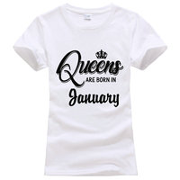The New Gildan Queens Are Born In January Women S Crew Neck Short Sleeve Graphic Tees
