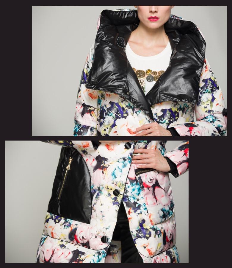 Long Livraison Imprimé Manteau Chaud Femmes Arrivée Style 2019 Nouvelle Floral Multi Gratuite Mode Parka De Épais Printemps Européenne wqBnXZ1