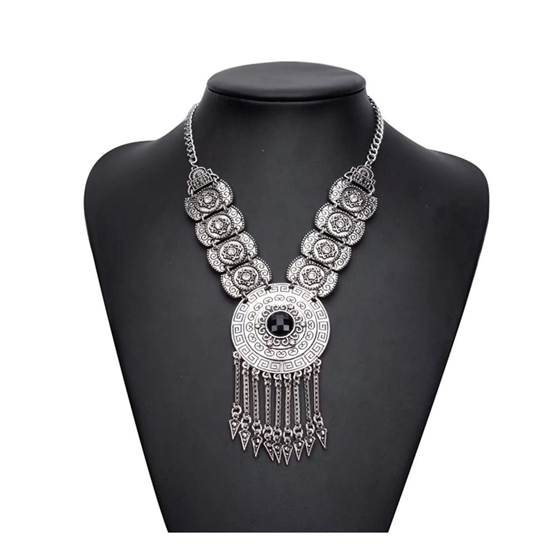 Fashion Long Tassel Necklace Bohemian Ethnic Dangles Retro Design Statement Jewelry