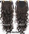 """Шиньоны 22 """" женщины в хвост синтетический волос вьющийся хвост # 4 естественный чёрный"""