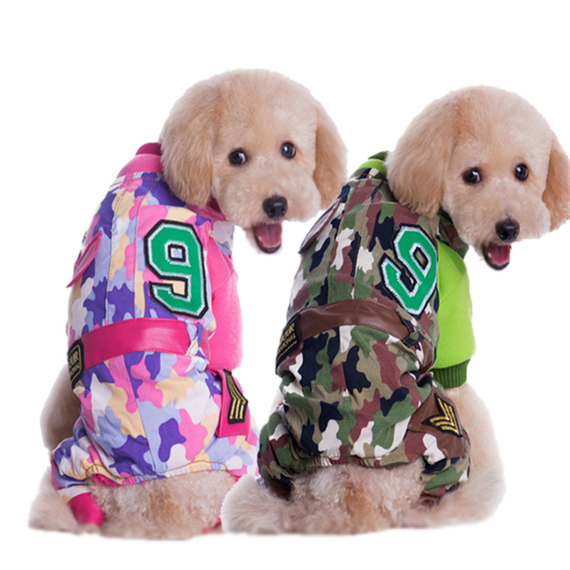New Pet Clothes Jacket For Dogs Autumn Winter Camo Dog Warm 4 Legs Coat ZYF002
