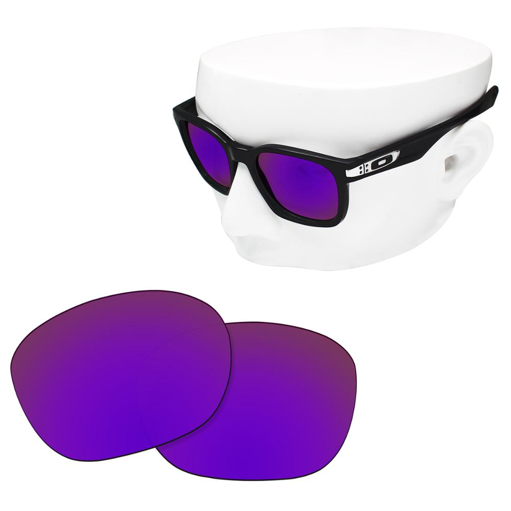 OOWLIT Polarized Replacement Lenses Of Purple Mirror For-Oakley Garage Rock OO9175 Sunglasses