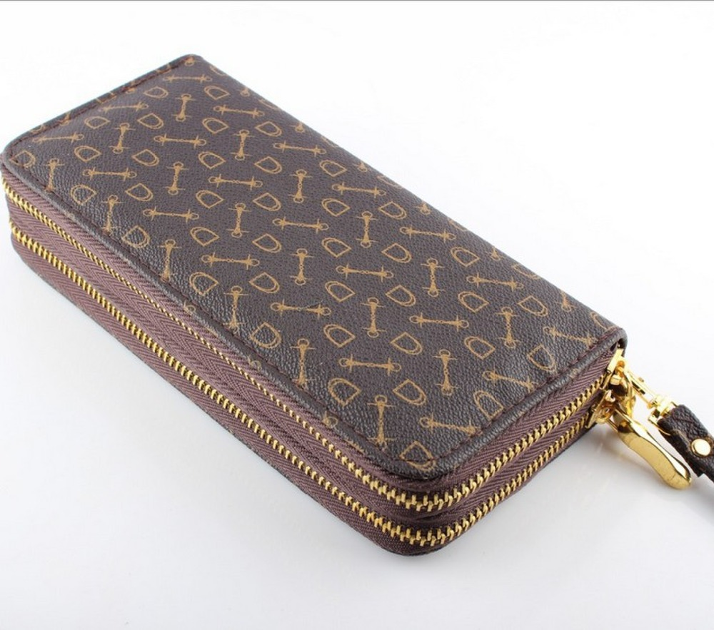 Women wallet Female Double Zipper Purse wallets women's PU multiple cards holder womens credit ID passport card holder baellerry double zipper women business card holder wallet oil wax leather purse female name bank credit cards driver license bag